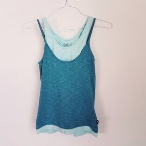 Horny Toad Teal Tank Top with Built In Bra